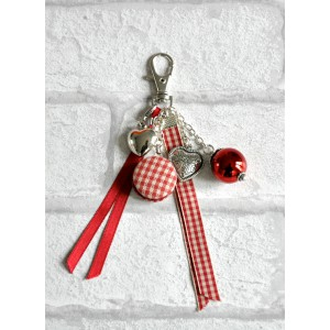 "Bijou de Sac porte clés  ""Rouge Macaron"""