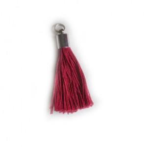 pompon embout métal : rouge DMC 815