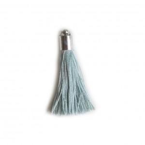 pompon embout métal : vert clair DMC 927