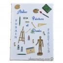Broderie Atelier Peinture & Dessin (grille seule) broderie point de croix