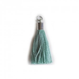 pompon embout métal : vert DMC 503