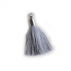 pompon embout métal : gris DMC 415