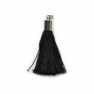 pompon embout métal : noir DMC 310