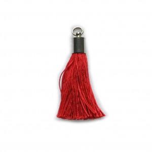 pompon embout métal : rouge Noel DMC 475
