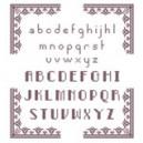 """Fiche Broderie Alphabet """"Pixel"""" en PDF à télécharger et à broder au point de croix"""