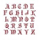 """Fiche Broderie Alphabet """"Preciosa"""" en PDF à télécharger et à broder au point de croix"""