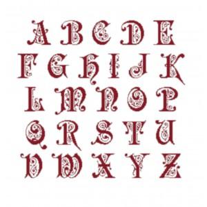 """Fiche Broderie Alphabet """"Preciosa"""" en PDF à télécharger et à broder au point de croix - IdéeCréation"""