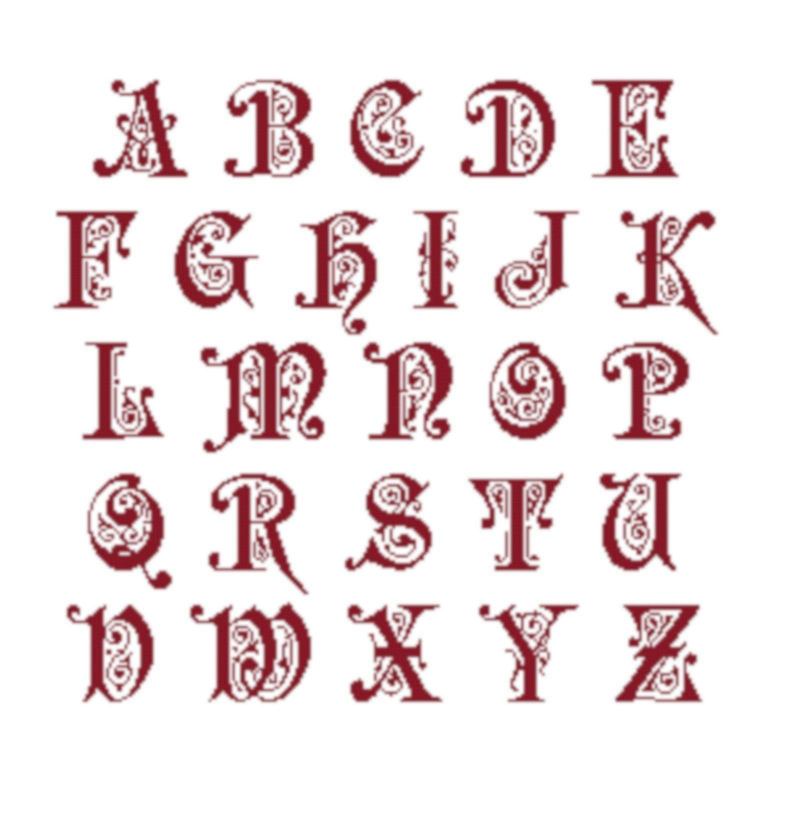 Fiche Broderie Alphabet Preciosa En Pdf A Telecharger Et A Broder Au Point De Croix Ideecreation