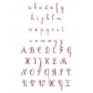 """Fiche Broderie Alphabet """"Cursif"""" en PDF à télécharger et à broder au point de croix"""