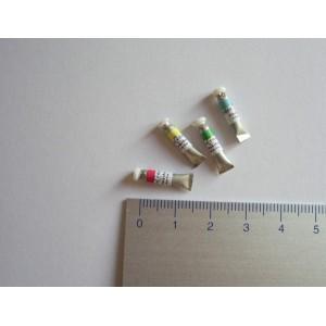 Tube de gouache miniature, vert, à l'unité