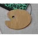 Palette de peinture miniature, ovale en bois, à l'unité