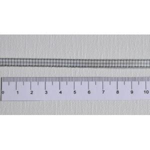 ruban mini vichy gris - Largeur 5 mm
