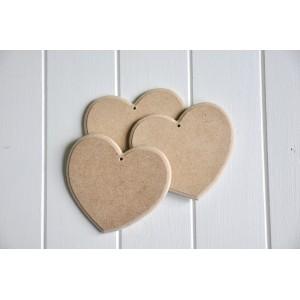 Lot de 3 Coeurs en bois brut à peindre et décorer