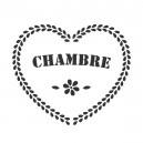 """Pochoir """"Coeur Chambre"""""""