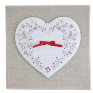Coeur de Coton (grille seule) broderie au point de croix