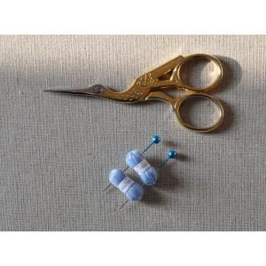 2 Pelotes de laine miniatures + 2 aiguilles assorties, lot bleu ciel