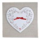 Fiche broderie Coeur de Coton grille à télécharger ( broderie au point de croix )