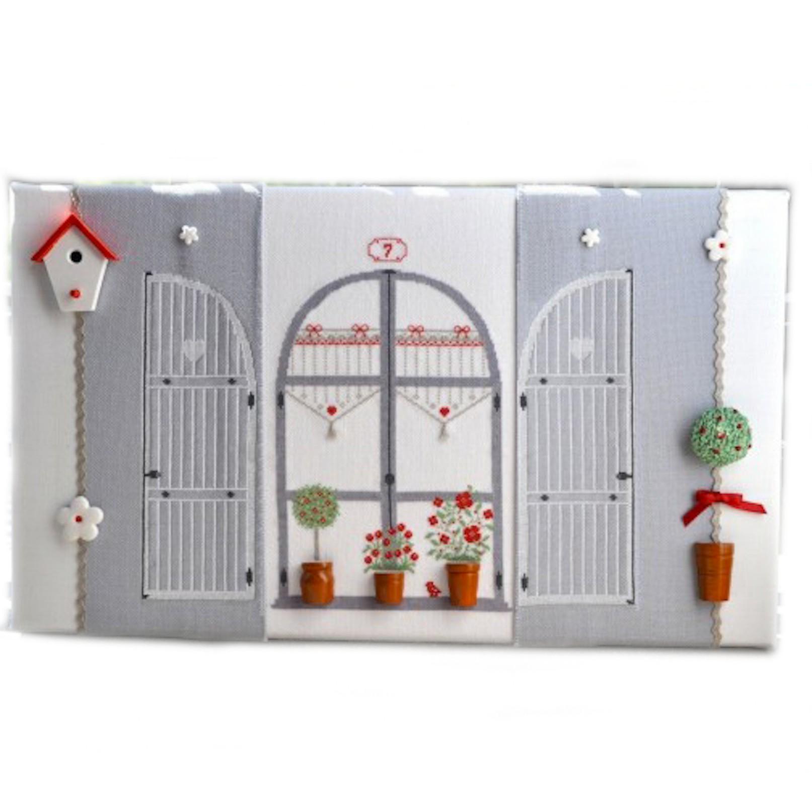 #842F13 Par La Fenêtre (grille   Miniatures) Broderie Au Point De  6357 decoration noel a faire soi meme gratuit 1613x1613 px @ aertt.com