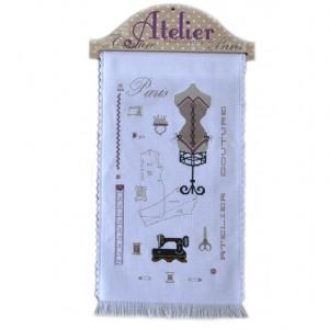 Kit complet : Atelier Haute Couture : broderie point de croix