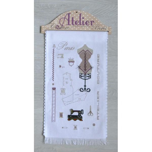kit complet atelier haute couture broderie point de croix id ecr ation. Black Bedroom Furniture Sets. Home Design Ideas