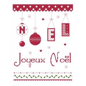 PDF grille gratuite Joyeux Noël à broder au point de croix