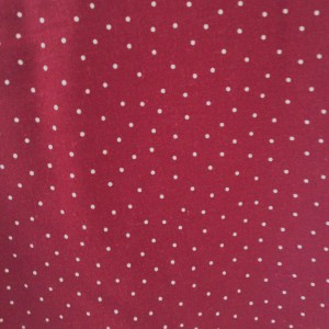 Metis Lin/coton, rouges à pois -  coupon 40 x 150 cm