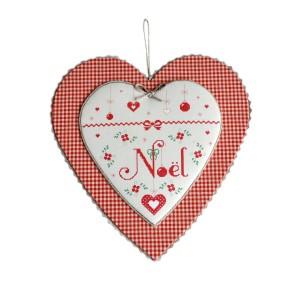 Coeur de Noel, cartonnage avec impression broderie