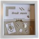 Vitrine Brodé Main : kit complet de broderie au point de croix avec miniatures de broderie