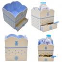 """Semi Kit cartonnage """"Boite Nuage de Bébé"""" bleu ou rose"""