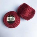 Fils DMC Coton perlé Art. 116 broderie Hardanger grosseur 8, rouge 816
