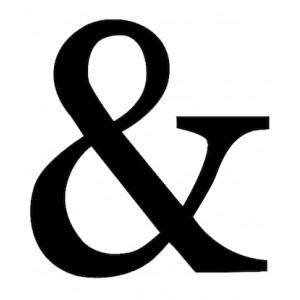 """Caractère """"&"""" en bois peint noir"""