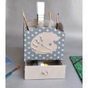 """cartonnage : """"Boîte De Peinture"""" avec tiroir (vendue finie)"""