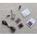 """Ensemble de 8 miniatures modèle """"Haute Couture"""""""