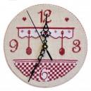 Horloge de Cuisine (grille seule avec explications cartonnage) broderie au point de croix