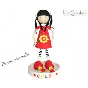 Poupée personnalisée au prénom de l'enfant, poupée décorative Fofucha