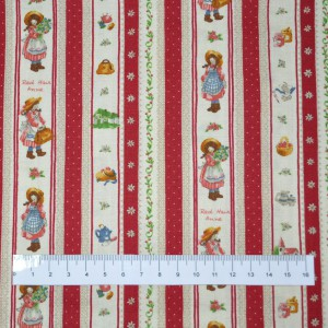 "100% coton : Tissu motif ""Filles Fleurs"""
