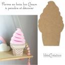 Glace en bois brut à décorer, forme en bois Ice Cream (MDF) brut à décorer pour une déco de chambre de princesse