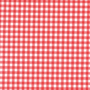 100% coton : Coupon Rouge vichy 37 x 50 cm